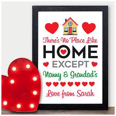 PERSONALISED Christmas Gifts for Grandparents Nanny Grandad Nanna HOME Presents ()