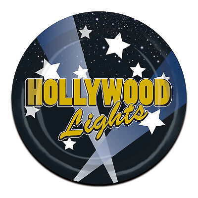Paper Plate Awards (8 ct HOLLYWOOD LIGHTS Glamour Awards  7