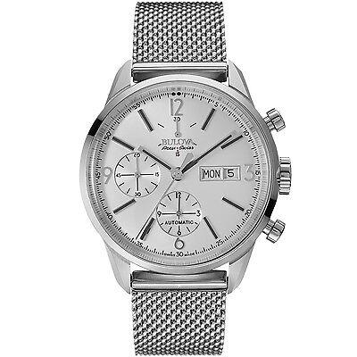 Bulova Accu Swiss Men's 63C116 Chronograph Automatic Silver-Tone 41mm Watch