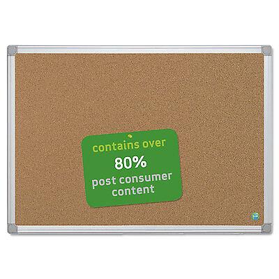 Mastervision Earth Cork Board 24 X 36 Aluminum Frame Ca031790