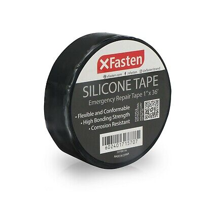 Xfasten Silicone Tape 1-inch X 36-foot Black