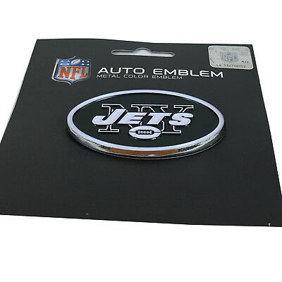 (New NFL New York Jets Auto Car Truck Heavy Duty Metal Color Emblem)
