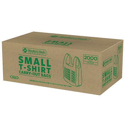 Members Mark Small T-shirt Carry-out Bags 2000 Ct. 112-barrel Size Convenient