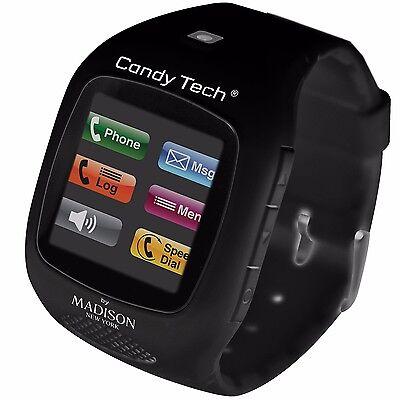 Madison New York Candy Tech® Telefonuhr Schwarz Unisex CT-03 Smartphone Uhr Candy Tech