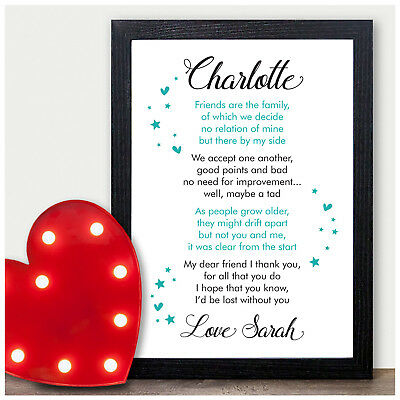 PERSONALISED Best Friend Friendship Plaque Sign Birthday Christmas Gifts
