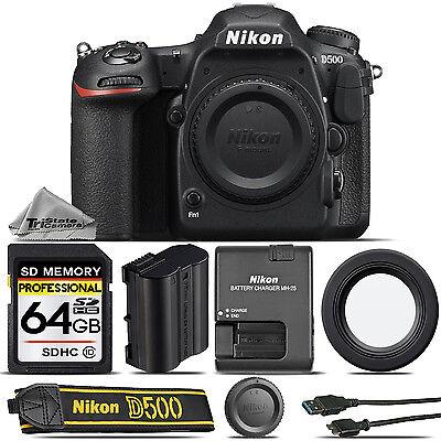 Nikon D500 DSLR Camera Body Built-In Wi-Fi, 4K UHD Video