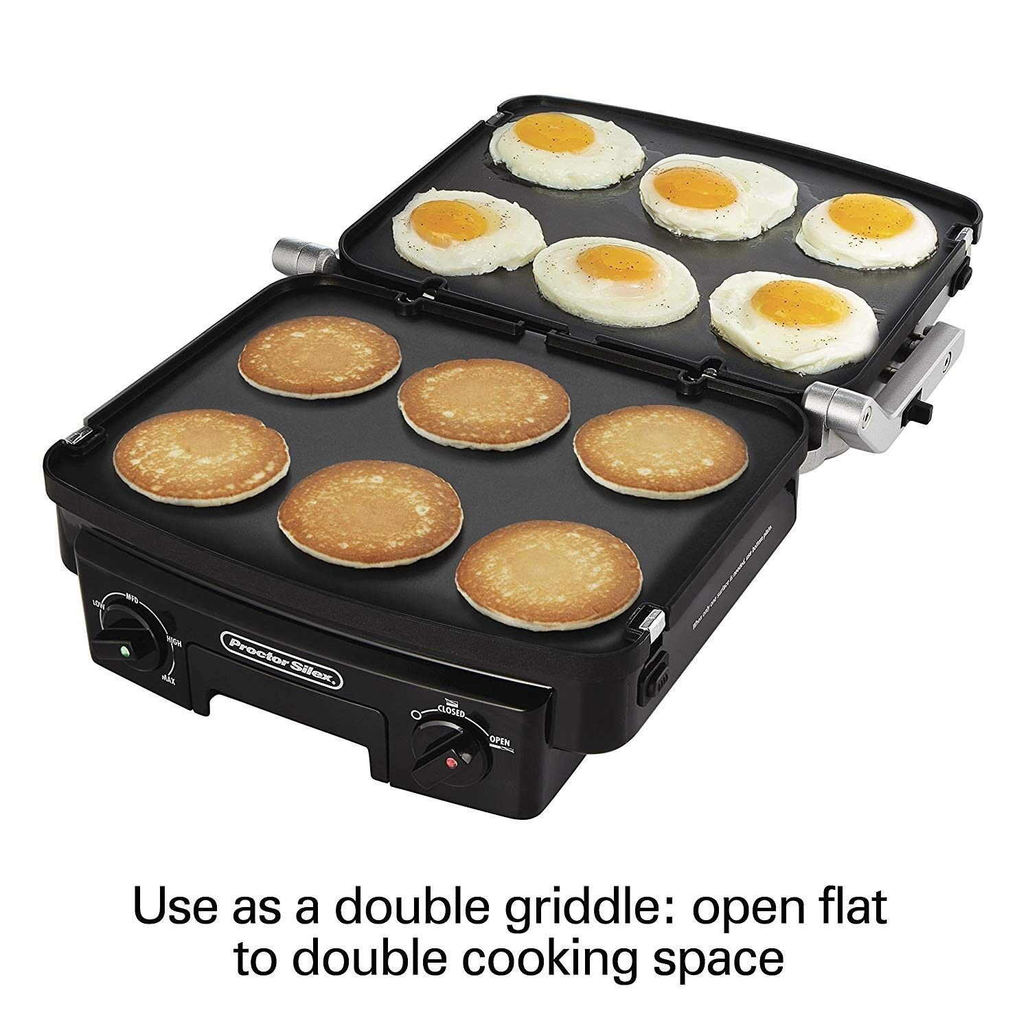 Proctor Silex 5-in - 1 Indoor Countertop Grill, Griddle & Pa