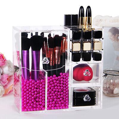 Lifewit Acrylic Makeup Brush Holder Dustproof Lipstick Cosmetic Organizer Clear