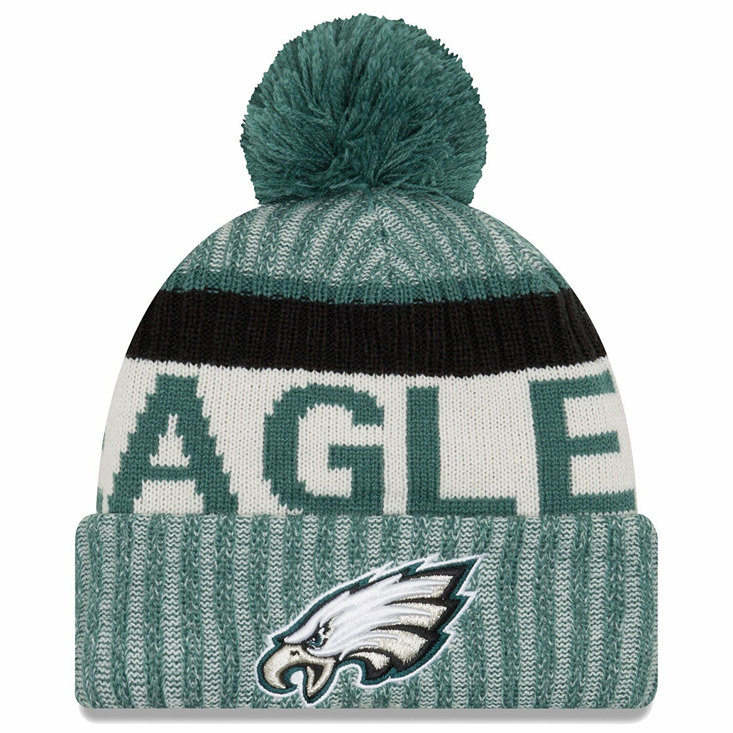 Купить Philadelphia Eagles New Era 2017 On-Field Sport Knit Hat