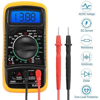 Lcd Digital Multimeter Meter Amp Ohm Voltmeter Tester Auto Acdc Circuit Resist