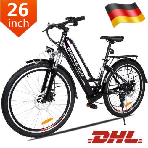 ANCHEER 26 Zoll Elektrofahrrad Citybike E-Bike Pedelec 250W Mountanbike Ebike DE