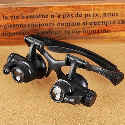 Binocular Glasses Type Magnifier Led Light Hunting Optics Opera Theater Tools (Theater-tools)