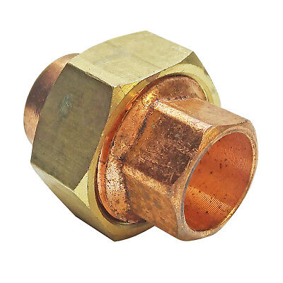12 Copper Brass Union C X C Bag Of 5 - Brass Pipe Fitting