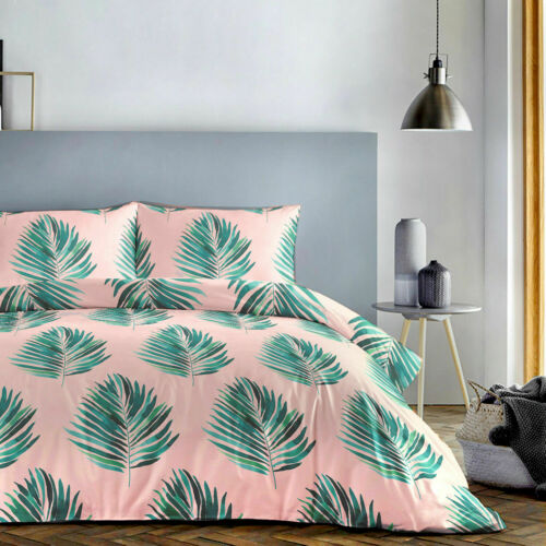 Fusion Botanical Plants Palm Leaves, Botanical Print Bedding