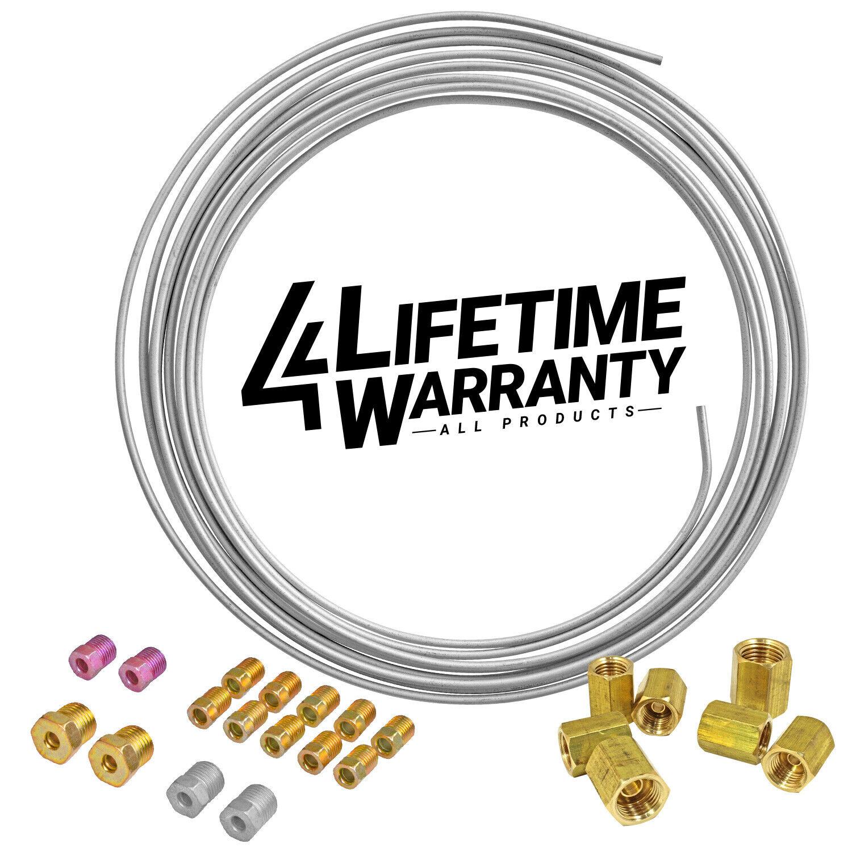 4LIFETIMELINES Domestic Flexible Brake Line 1//4 x 12