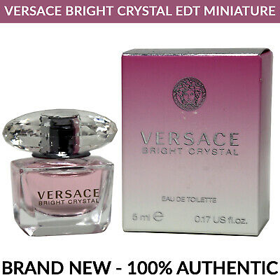 Versace Bright Crystal EDT Women's 5ml 0.17oz Miniature Splash Bottle BRAND NEW