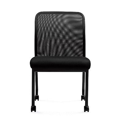 """Mesh Chairs - """"11761B"""" Armless Office Guest Chairs with Cast"""