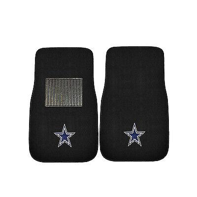 FootBall Dallas Cowboys Black Carpet Floor Mats Universal Licensed