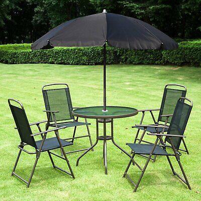 Outsunny 6pc Outdoor Patio Umbrella Set Garden Bistro Yard Furniture