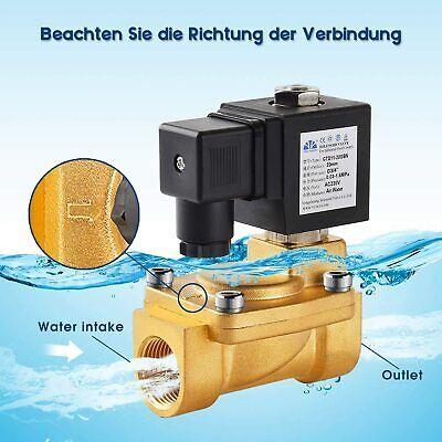 G3/4 230V Válvula de Solenoide Eléctrico Agua Nc Agua Válvula Latón IP65
