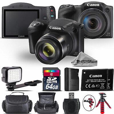 Canon PowerShot SX420 Digital Camera 20.0MP 42x Optical NFC / WiFi - 64GB Kit