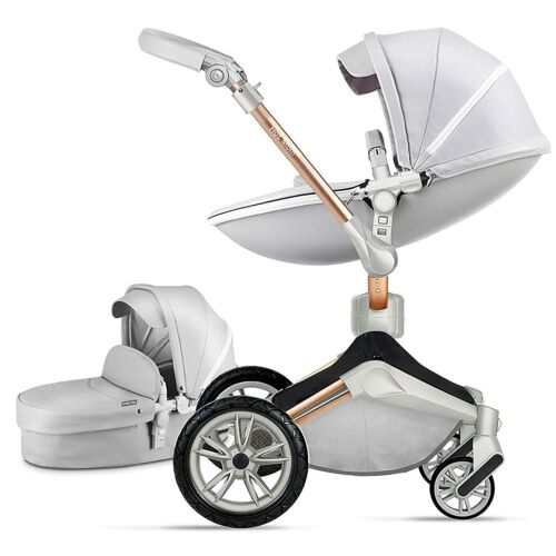 Hot Mom Baby Stroller 360 Degree Rotation Function Baby Carriage Pushchair Grey