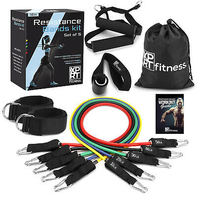 XPRT Fitness 11 PCS Resistance Bands Set Home Gym Exercise Tube Bands Training