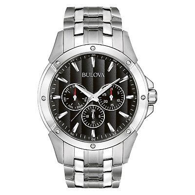 Bulova Classic Men's 96C107 Quartz Chronograph Black Dial 43mm Bracelet Watch