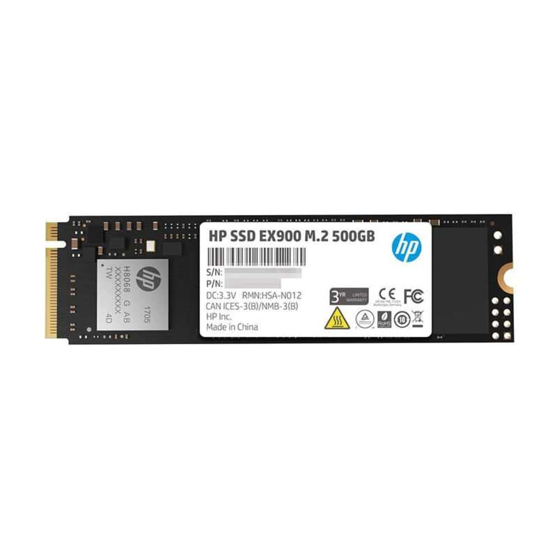 HP EX900 M.2 500GB SSD PCIe 3.0 x4 NVMe 3D TLC NAND Internal SSD 2YY44AA#ABC