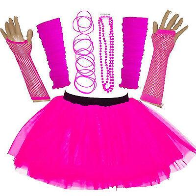 NEUER FRAUEN Mädchen Outfit Neon UV Tutu Komplettset Kostüm