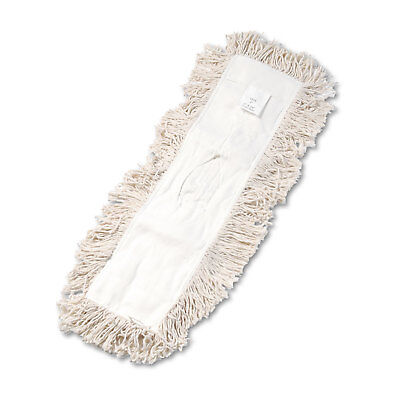 Boardwalk Industrial Dust Mop Head Hygrade Cotton 24w X 5d White 1324