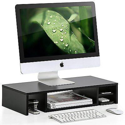 Computer Monitor Riser With Storage Shelf Desktop Organizer Laptop Tv Stand