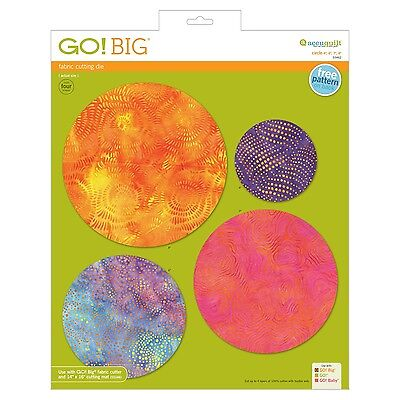 """AccuQuilt GO! Die Big Circle-4"""", 6"""", 7"""", 8"""" Finished 55462"""