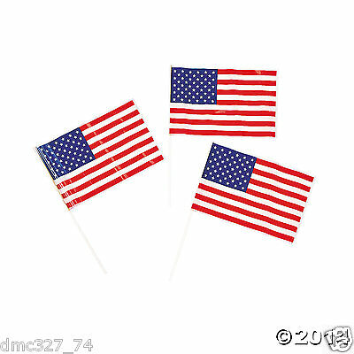 24 4th of July PATRIOTIC Election Party Favors Plastic MINI AMERICAN FLAGS (4th Of July Party Favors)