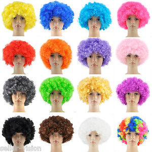 Curly-Afro-Fancy-Dress-Wigs-Funky-Disco-Clown-Style-Mens-Ladies-Costume-70s-Hair