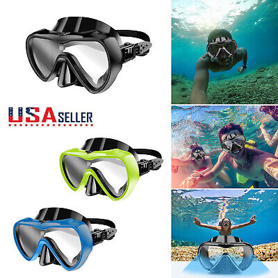 Half Face Snorkel Mask Diving Goggles Snorkeling Gear Scuba Easy Dive Anti Fog