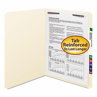Smead Folders One Fastener Straight Cut Top Tab Letter Manila 50box 14510