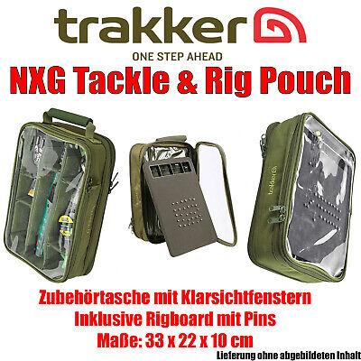 Trakker NXG Tackle & Rig Pouch - Zubehörtasche inkl. Rigbord 33 x 22 x 10 cm