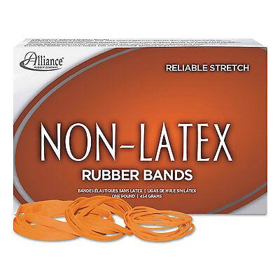 Alliance Non-latex Rubber Bands Sz. 64 Orange 3 12 X 14 380 Bands1lb Box