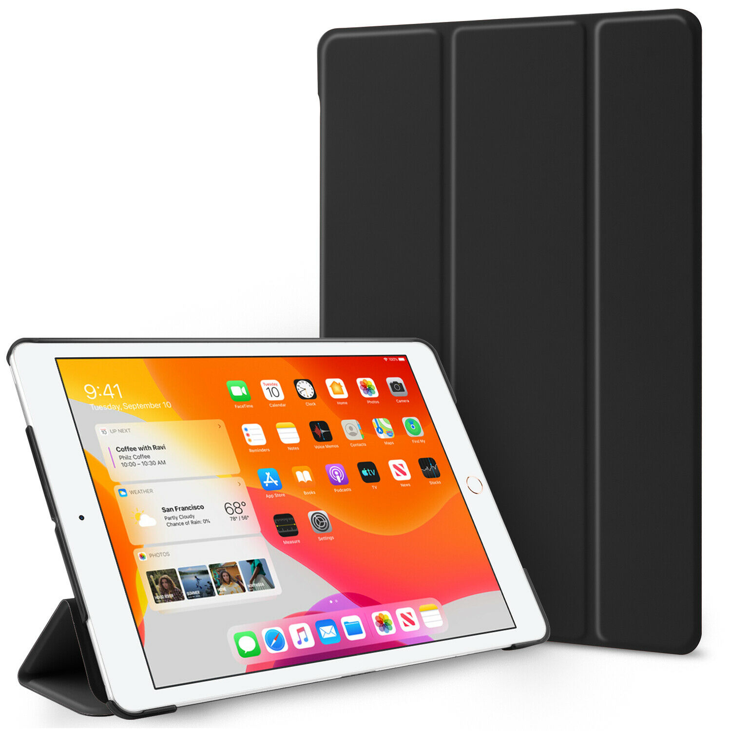 For iPad 10.2″ 2020 8th Gen/7th Generation Folding Stand Shockproof Case Cover Cases, Covers, Keyboard Folios