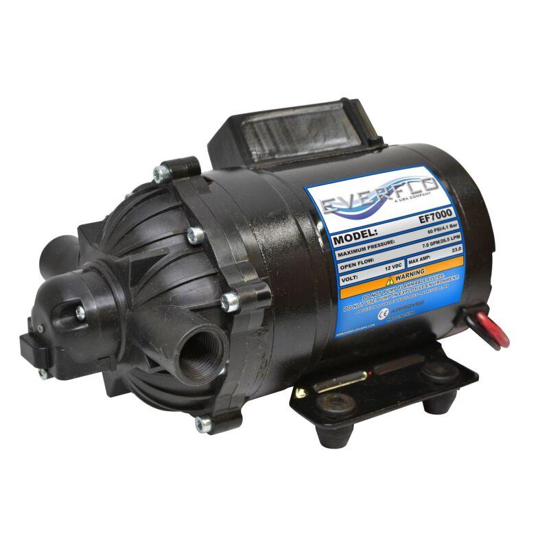 Everflo EF7000 EVERFLO 12 Volt Diaphragm Pump 60psi @ 7gpm,  Sprayers, Boats, RV