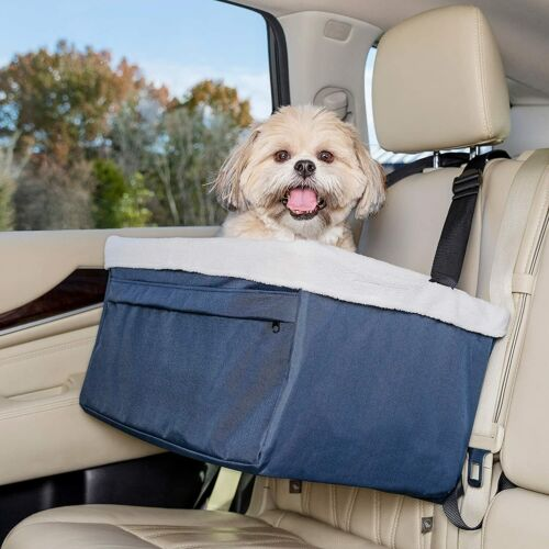 PetSafe Happy Ride Deluxe Booster Seat for Dogs - Elevated Pet Bed for Cars