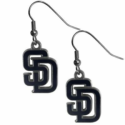 San Diego Padres Dangle Earrings (Zinc) MLB Licensed Baseball Jewelry San Diego Padres Jewelry