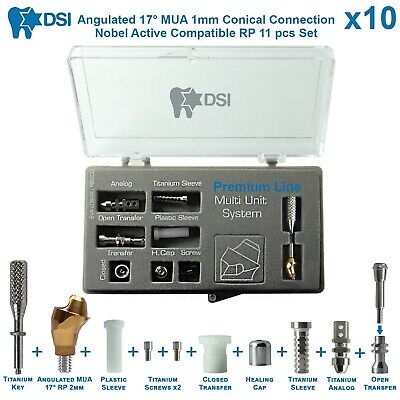 10 Dsi Dental Implant Angulated Multi Unit Set Rp Nobel Active Conical 17 2m