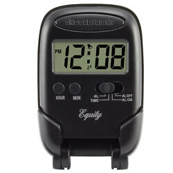 31302 Equity by La Crosse LCD Digital Fold-Up Travel Alarm Clock - Black