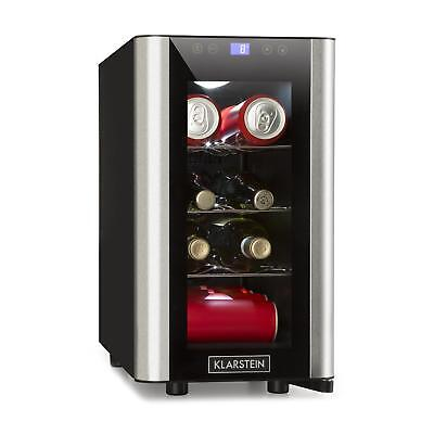 [B-Stock] Wine Cooler Mini Fridge Refrigerator 24l 8 Bottles LED Glass Door Stee