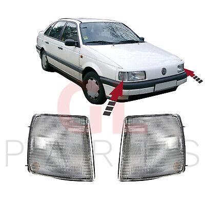 VW PASSAT [ B3 ] 1988-1993 FRONT INDICATOR REPEATER LIGHT LAMP SET LH+RH - CLEAR