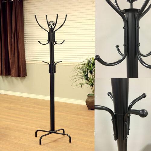 Premium Metal Tree Coat Rack Hanger Free Standing Floor With 12 Hooks 73