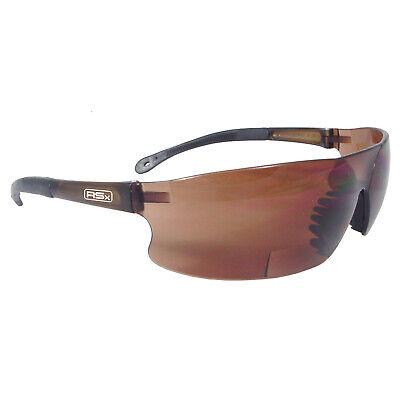 Rad Sequel Bifocal Brown 1.5 Lens Safety Glasses Reading Readers Magnifier Z87