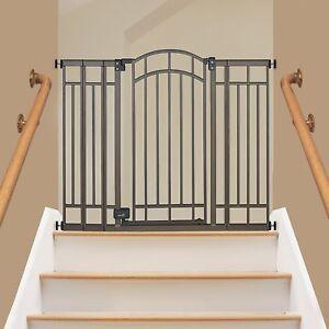 Superb Extra Tall Walk Thru Safety Gate Pet Dog Toddler Baby Child Stairs Through  Wide